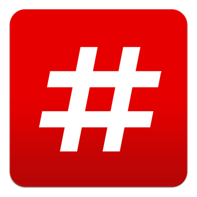 how to write number with hashtag