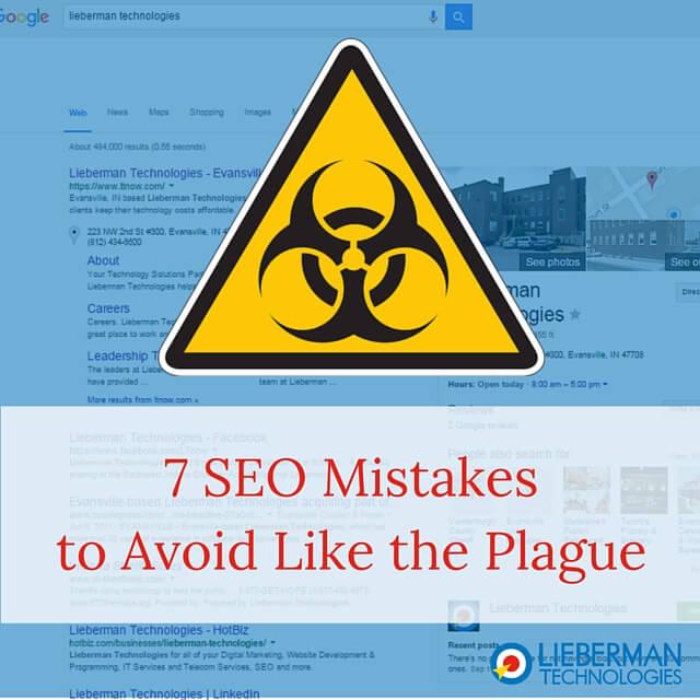 SEO Mistakes to Avoid Like the Plague