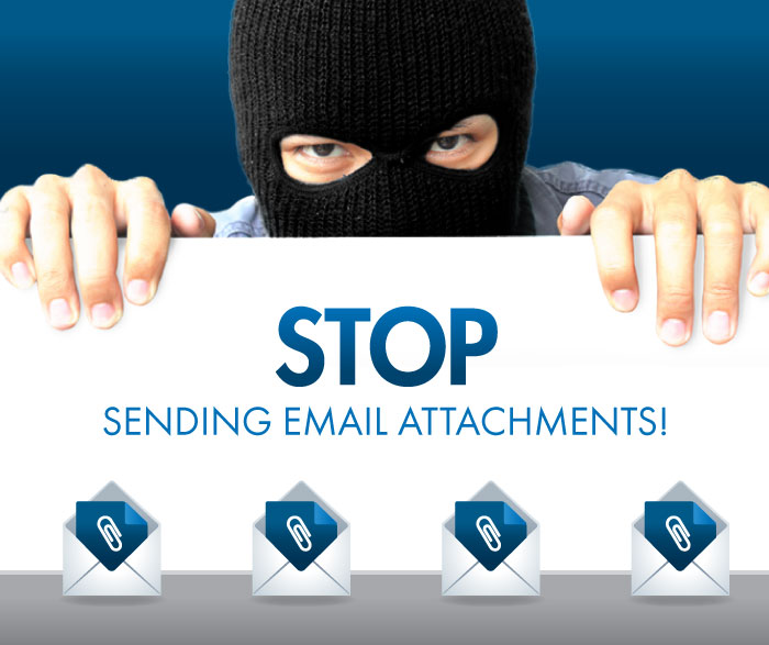 stop sending email attachments