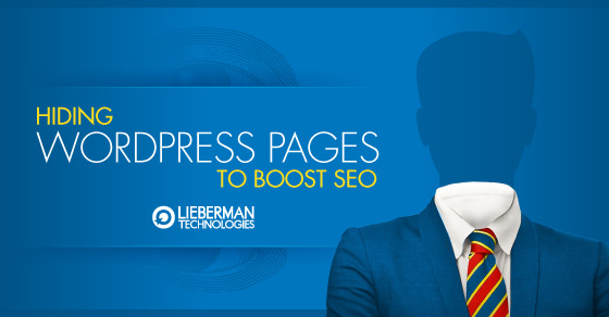 Hide WordPress pages to boost SEO