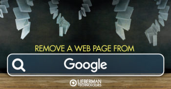 how to remove a page from the Google index