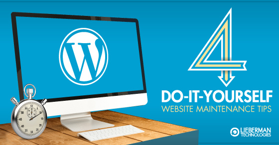 4 DIY websites maintenance tips