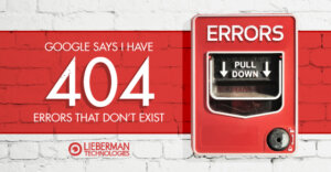 google says I have 404 errors that don't exist