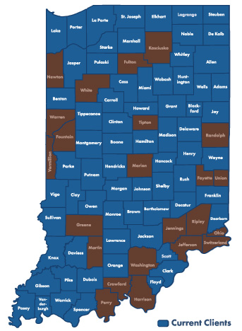 Indiana Counties using ATWS for paperwork automation