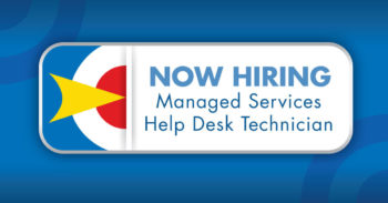 now hiring Managed Services Help Desk Technician