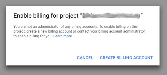 enable billing for the Google Maps Project