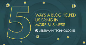 using a blog to bring in leads and business