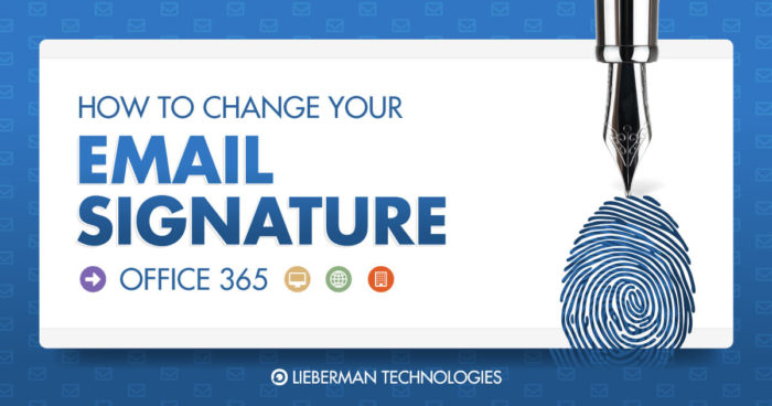 how to change your signature office 365