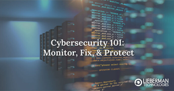 Cybersecurity 101: Monitor, Fix and Protect